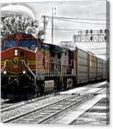 Bnsf Train Canvas Print
