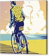 Boadwalk Bike Canvas Print