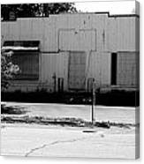 Boarded Up - Black And White Canvas Print