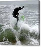 Boardskimming - Into The Surf Canvas Print
