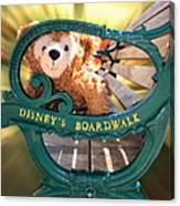 Boardwalk Bear Canvas Print