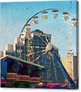 Boardwalk Ferris  Canvas Print
