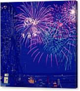 Boardwalk Fireworks Canvas Print
