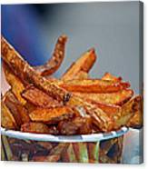 French Fries On The Boards Canvas Print