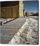 Frost On The Boardwalk Canvas Print