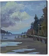 Boardwalk On Vashon Island Canvas Print