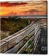 Boardwalk Sunrise Amelia Island Florida Canvas Print