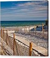 Boardwalk To Cape Cod Bay Canvas Print