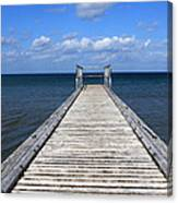 Boardwalk To The Ocean Canvas Print
