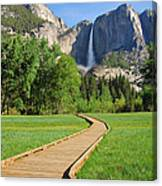 Boardwalk To Yosemite Falls  Canvas Print
