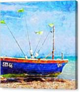 Boat Ashore Canvas Print