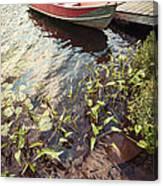 Boat At Dock  Canvas Print