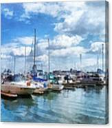 Boat - Boat Basin Fells Point Canvas Print