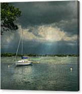 Boat - Canandaigua Ny - Tranquility Before The Storm Canvas Print