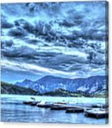 Boat Dock At Holter Lake Canvas Print