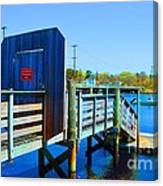 Boat Dock In Rhode Island Canvas Print