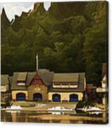 Boat House Row Canvas Print