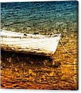 Boat In Dangerous Waters Canvas Print