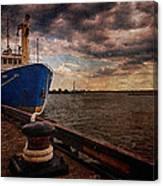 Boat In Marina Canvas Print