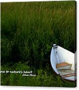 Boat In The Marsh Canvas Print
