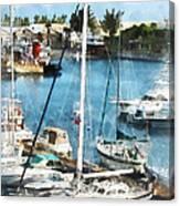Boat - King's Wharf Bermuda Canvas Print