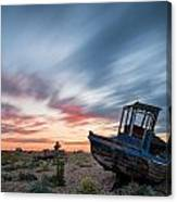 Boat Long Exposure Sunset Canvas Print