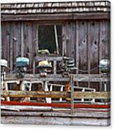 Boat Motors Going Nowhere Canvas Print