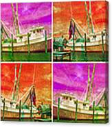 Boat Of A Different Color Canvas Print