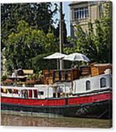 Boat On Canal Du Midi Homps France Dsc01717  Canvas Print