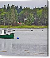 Boat On Cove In Glen Margaret-ns  Canvas Print