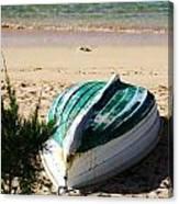 Boat On Devonshire Bay Beach Canvas Print