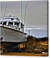 Boat Out Of Water Canvas Print