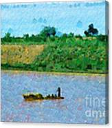 Boat Painting Canvas Print