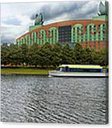 Boat Ride Past The Swan Resort Walt Disney World Canvas Print