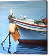 Boat Saida - Zaher Bizri Lebanes Artist - Art In Lebanon Canvas Print