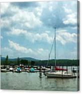 Boat - Sailboat At Dock Cold Springs Ny Canvas Print