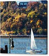 Boat - Sailboat Near Chelsea Pier Canvas Print