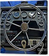 Boat Steering Wheel Canvas Print