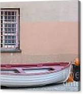 Boat Under A Window Canvas Print