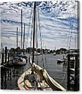 Boat Under The Clouds Canvas Print