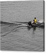 Boat Wake Canvas Print