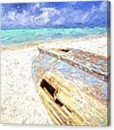 Boat Wreck Of Aruba Canvas Print
