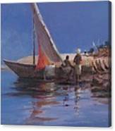 Boat Yard, Kilifi, 2012 Acrylic On Canvas Canvas Print