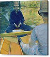 Boaters On The Yerres Canvas Print