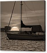 Boater's Sunset Canvas Print
