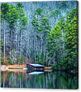Boathouse On Pinnacle Lake Canvas Print
