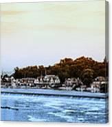 Boathouse Row And Farmount Dam Canvas Print