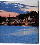 Boathouse Row Dusk Canvas Print