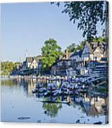 Boathouse Row In September Canvas Print