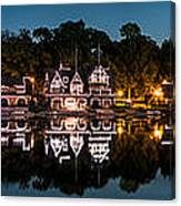 Boathouse Row Panorama Canvas Print